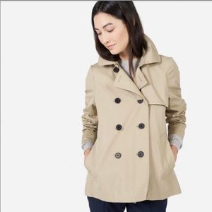 Everlane | The swing trench coat tan color